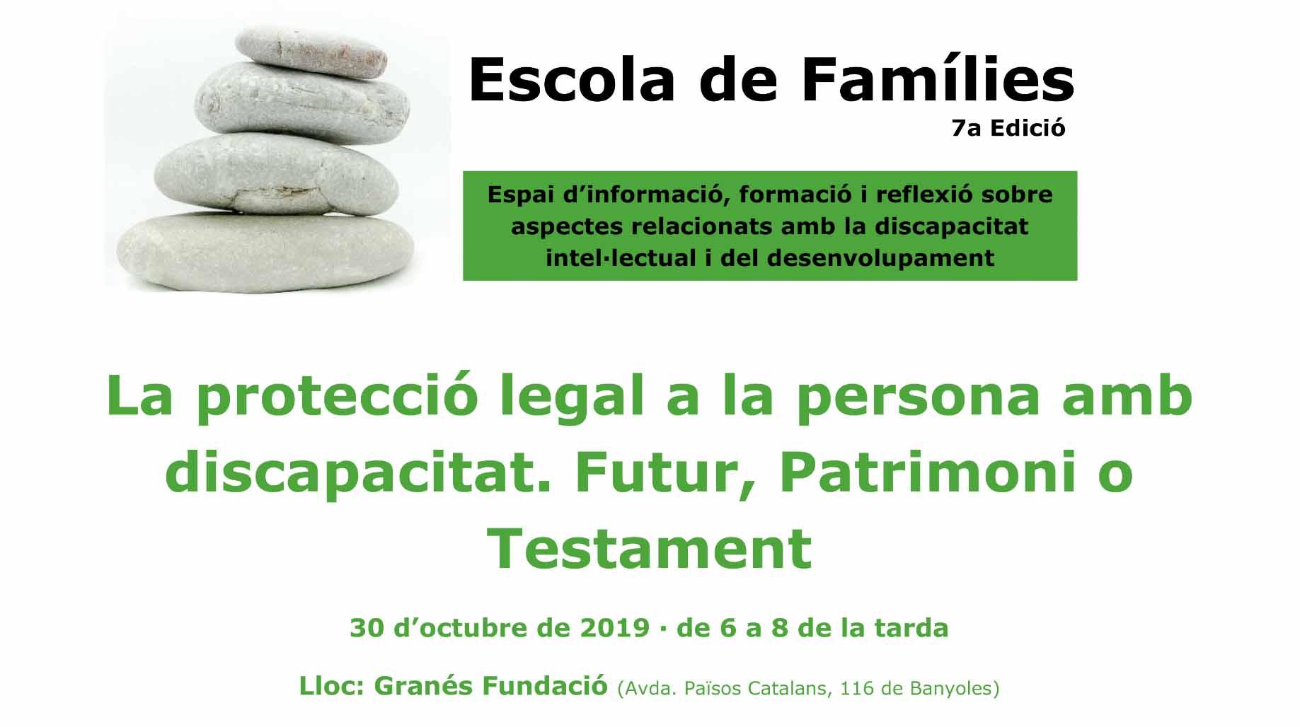 Escola De Famílies A La Seu De Granés Fundació: Protecció Legal A Les Persones Amb Discapacitat