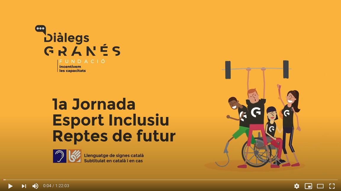 Imatge Del Vídeo De La Primera Jornada Sobre Esport Inclusiu