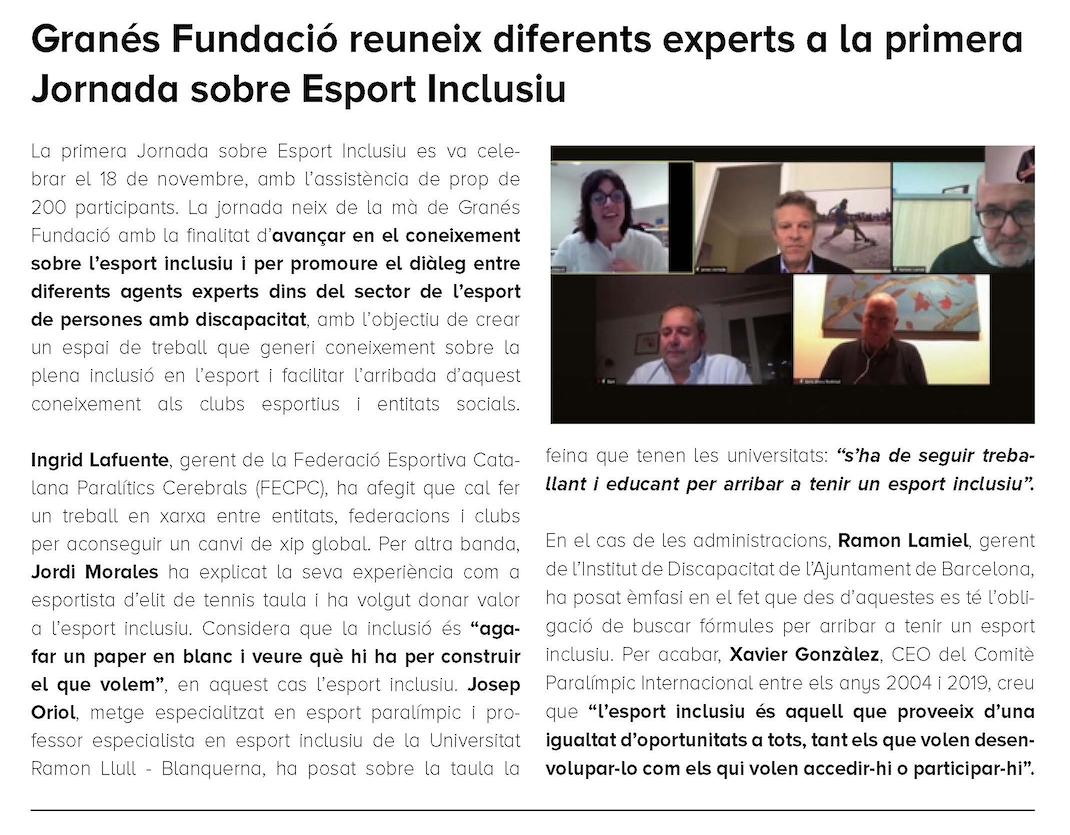 Esport Inclusiu I Reptes De Futur, Granés Fundació – GIDONA