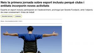 Neix La Primera Jornada Sobre Esport Inclusiu Perquè Clubs I Entitats Incorporin Noves Activitats – Social.cat