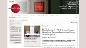 Granés Fundació I L'IDIBGI Creen Beques Bianuals Per Fomentar La Recerca En L'àmbit De La Discapacitat – Ràdio Banyoles