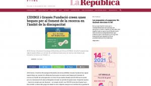 L'IDIBGI I Granés Fundació Creen Unes Beques Per Al Foment De La Recerca En L'àmbit De La Discapacitat – La República