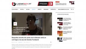 Banyoles Enceta Els Actes De La Marató Amb Un Col·loqui A La Seu De Granés Fundació –  Pla Estany Digital.cat