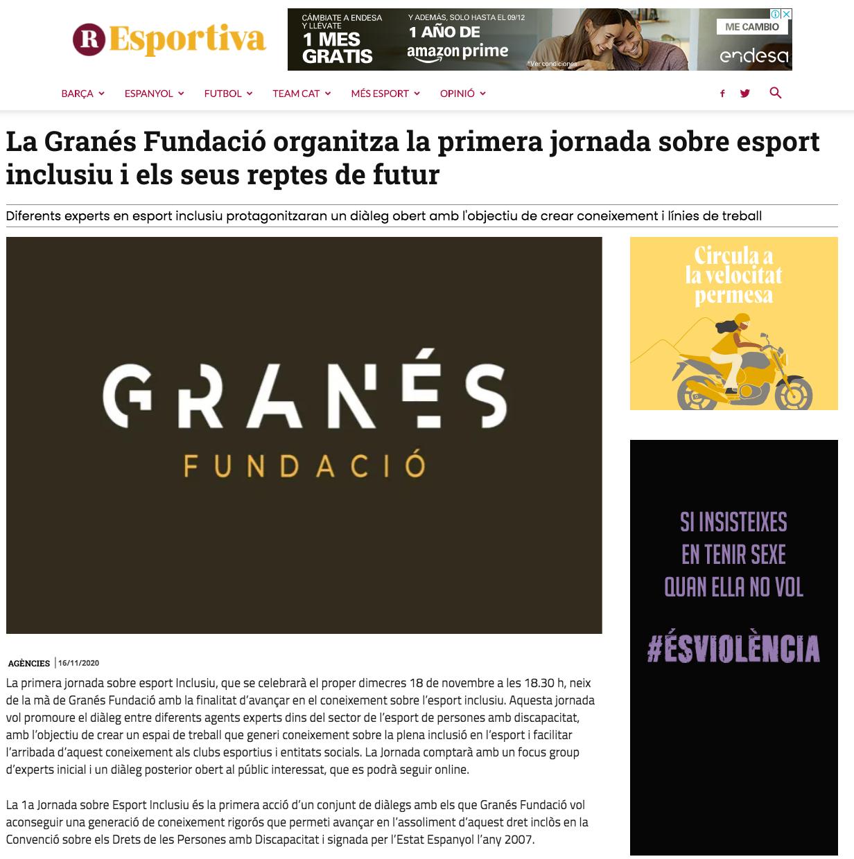 Granés Fundació Organitza La Primera Jornada Sobre Esport Inclusiu I Els Seus Reptes De Futur – La República Esportiva