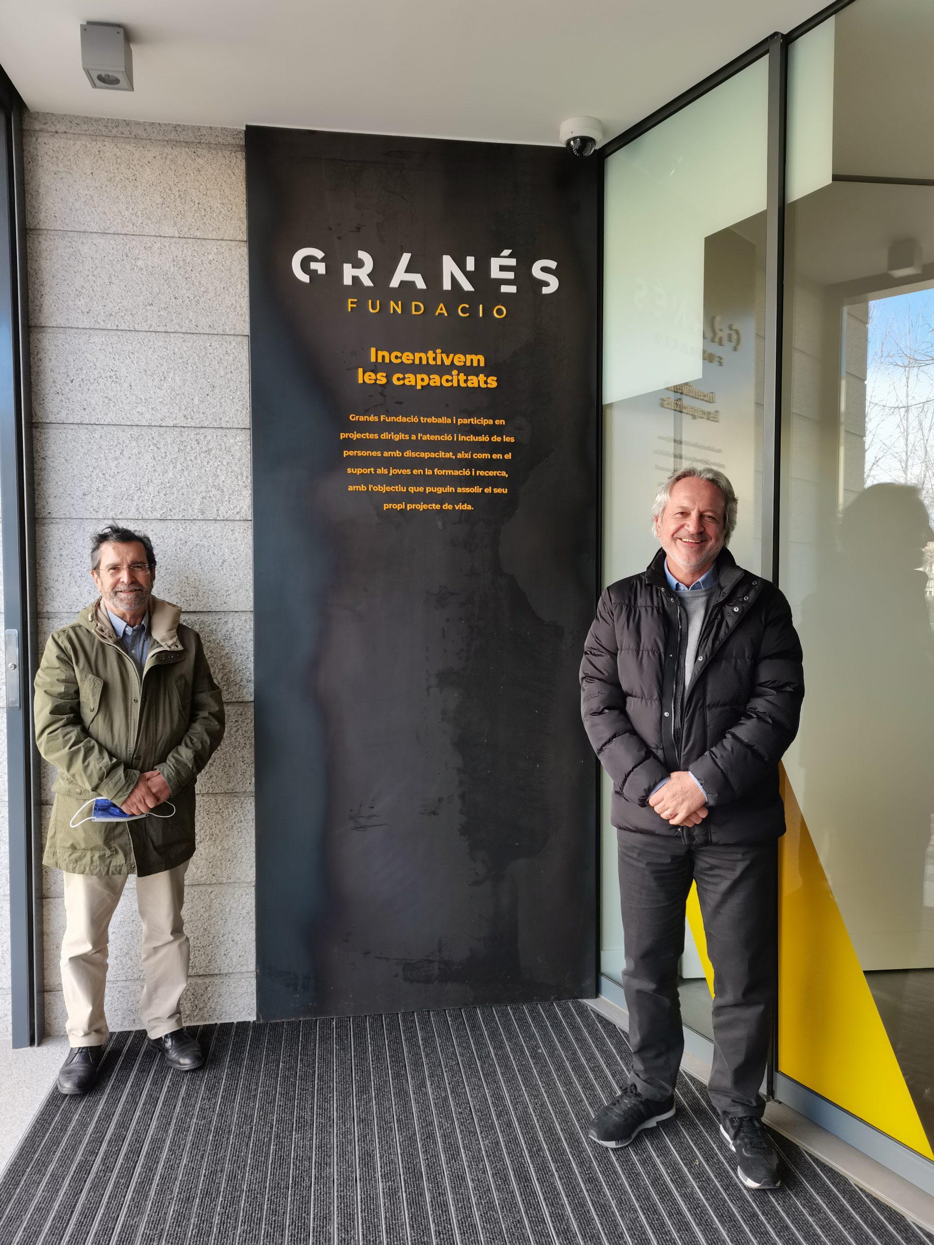 Antoni Vilà, Vicepresident De Granés Fundació, I Raimon Del Moral, President Del Patronat