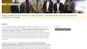 Dincat I Granés Fundació Impulsen Un Espai De Recerca I Coneixement Del Sector De La Discapacitat Intel·lectual A Catalunya – Taula Del Tercer Sector