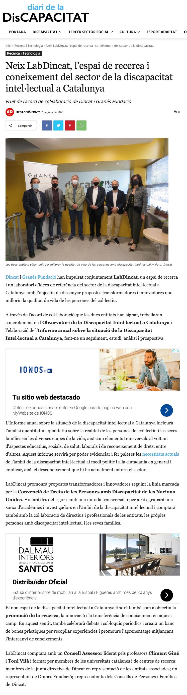 Neix LabDincat, L'espai De Recerca I Coneixement Del Sector De La Discapacitat Intel·lectual A Catalunya – Diari De La Discapacitat