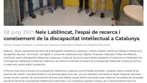 Neix LabDincat, L'espai De Recerca I Coneixement De La Discapacitat Intel·lectual A Catalunya – Sies.tv