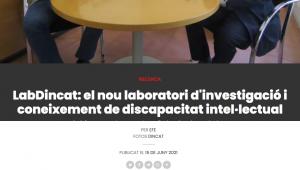 LabDincat: El Nou Laboratori D'investigació I Coneixement De Discapacitat Intel·lectual – Diari De Barcelona