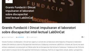 Granés Fundació I Dincat Impulsaran El Laboratori Sobre Discapacitat Intel·lectual LabDinCat – Televisió De Banyoles
